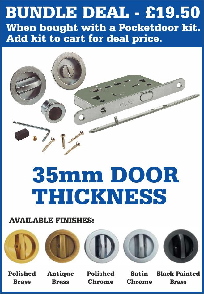 Eclisse 100mm Wall Thickness Single Pocket Door Kit