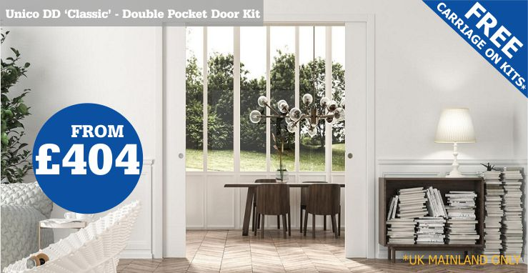 Double Classic Pocket Door