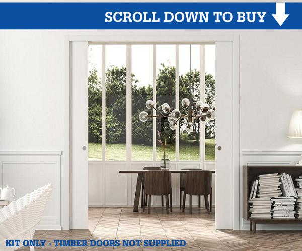 Eclisse Double Pocket Door Kit for Timber Doors
