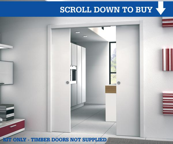 100mm Wall Thickness Double Door Pocket Doors Kit Pocket
