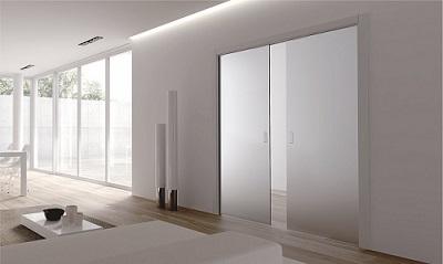 glass pocket doors light