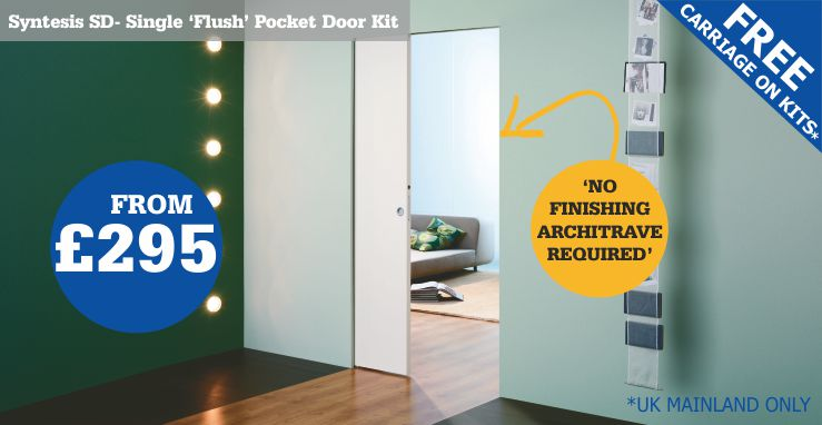 frameless single pocket door