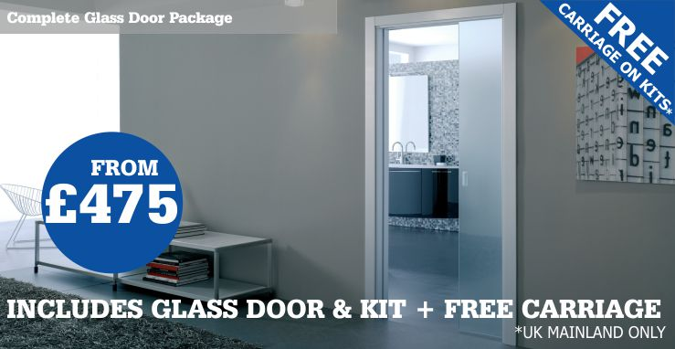 single glass pocket door