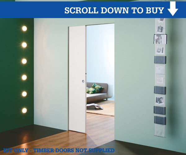 100mm Frameless Pocket Door Kit Pocket Door Shop