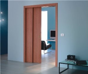 telescopic pocket door