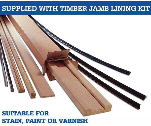 100mm timber jamb lining kit